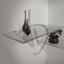 Mensole in vetro satinato, su misura
