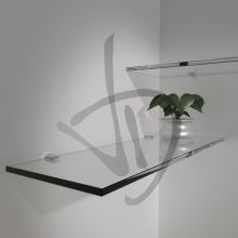 Mensole in vetro trasparente, su misura