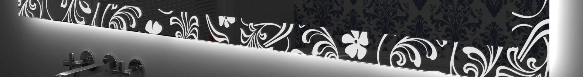 Specchi decorati retroilluminati