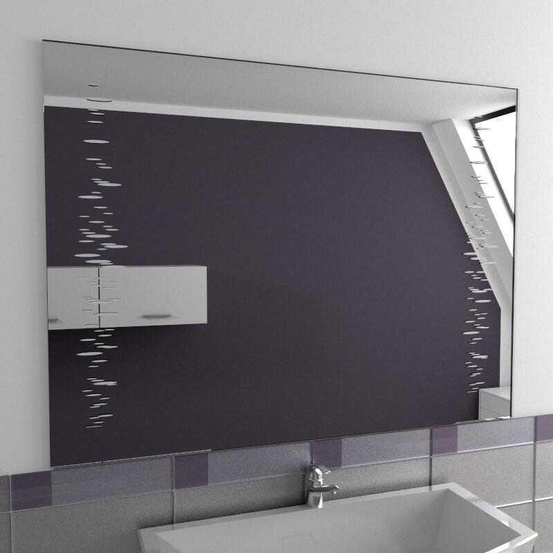 Specchio bagno specchio bagno con decoro vendita online di specchi su misura specchio su - Specchio su misura ikea ...