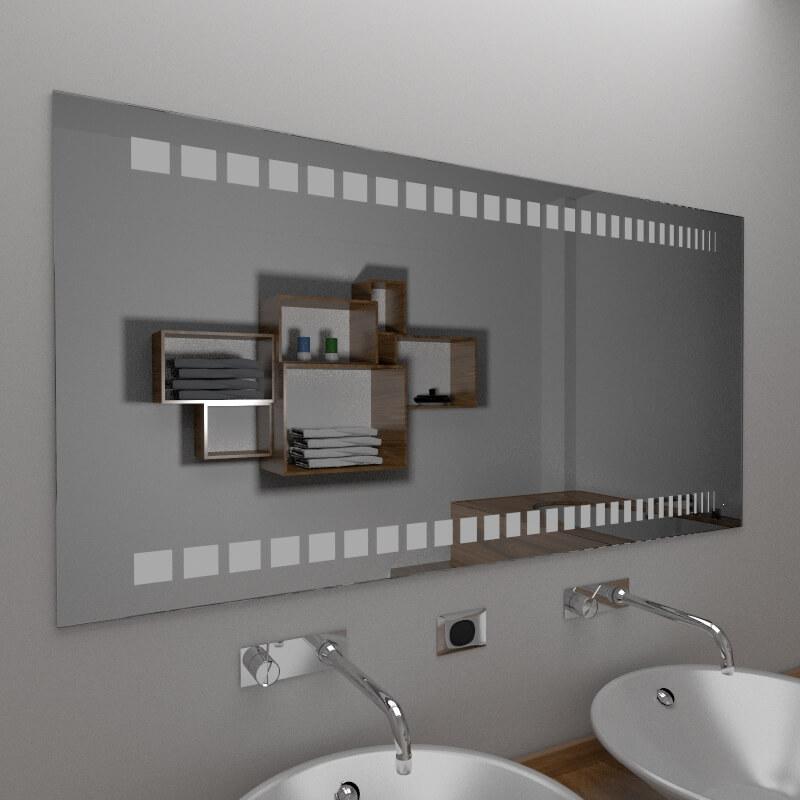Specchio bagno specchio bagno con decoro vendita online for Vendita specchi bagno