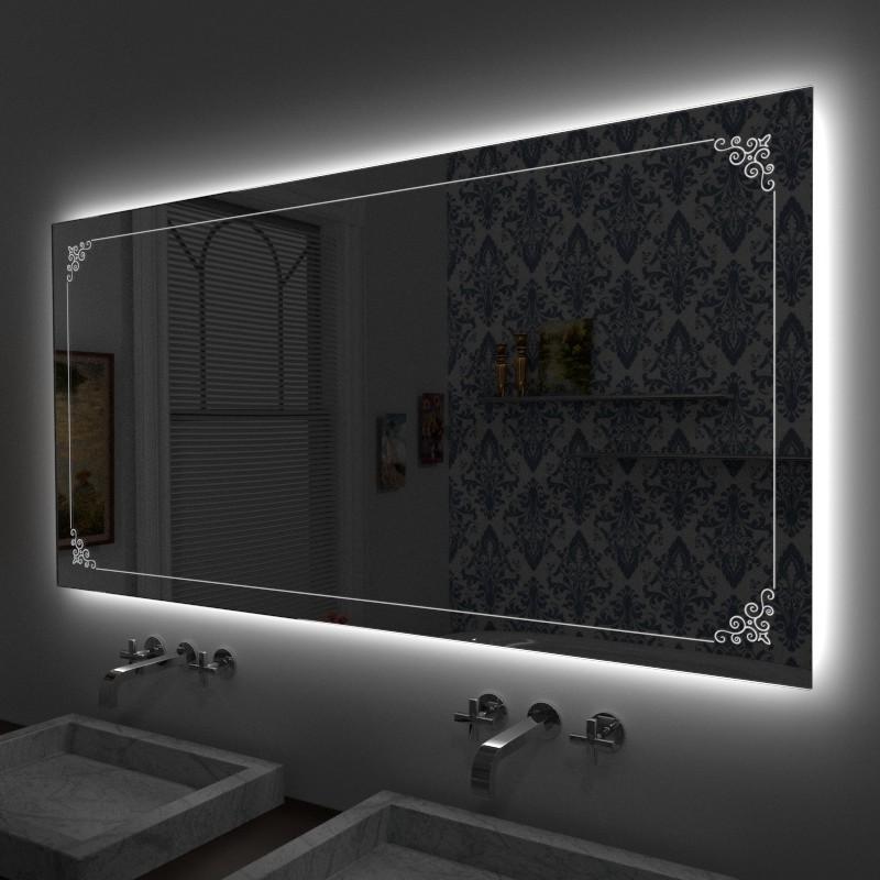 Specchio decorato online specchi decorativi specchi - Specchi bagno con led ...