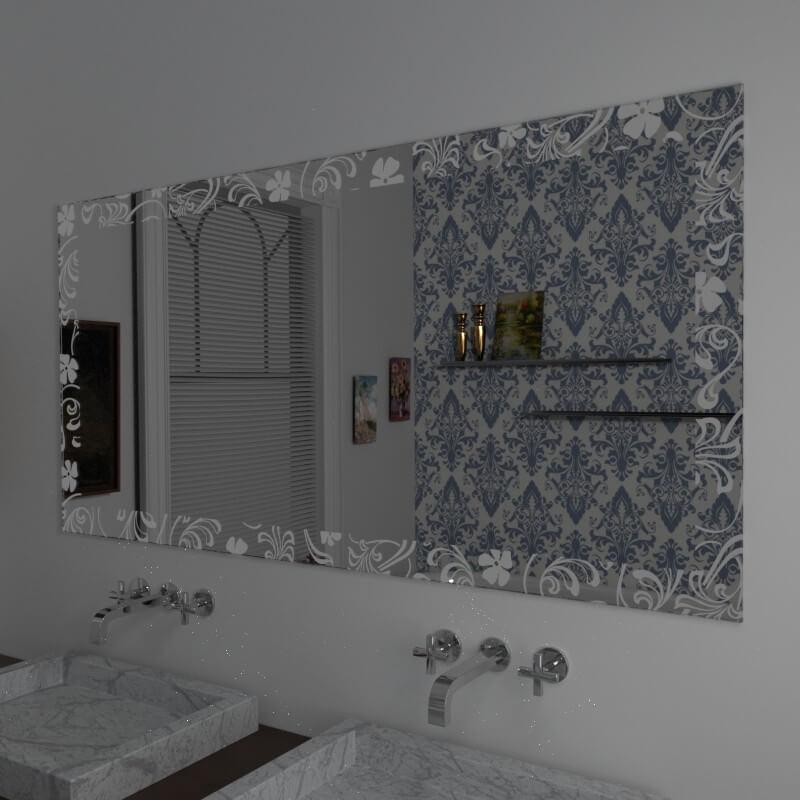 Specchio bagno specchio bagno con decoro vendita online for Specchi su misura on line