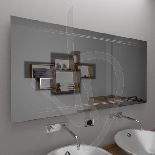 Specchio bagno specchio bagno con decoro vendita online for Specchio bagno 3d