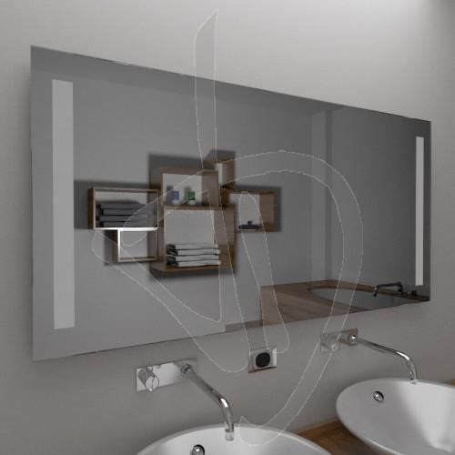Specchio bagno design, specchio con decoro, specchio decorato ...