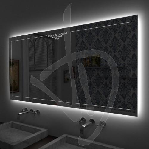 Specchio decorato online specchi decorativi specchi decorati specchio led specchi su misura - Specchio retroilluminato bagno ...