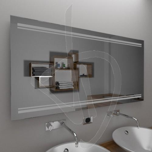 Specchio per bagno specchio con decoro specchi decorati - Specchio su misura ikea ...