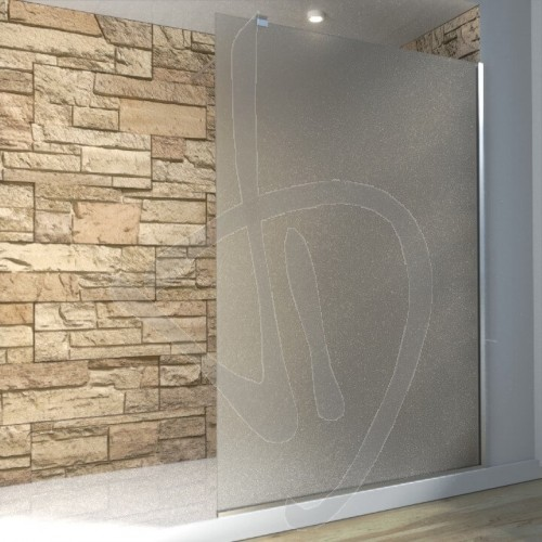 Vetro doccia fisso arredo bagno box doccia su misura for Adesivi per box doccia