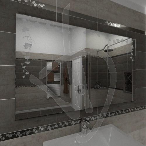 Specchio senza cornice con decoro specchio decorato specchio su misura specchio online - Specchio senza cornice ...