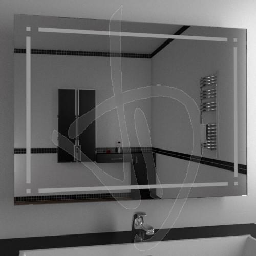 Specchio per bagno, specchio con decoro, specchi decorati su misura ...