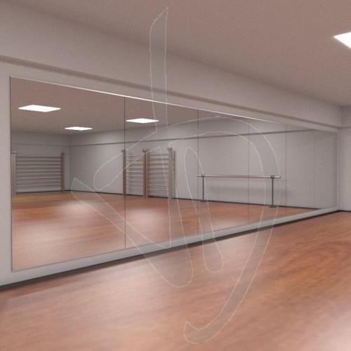 Parete a specchio specchi modulari parete a specchio for Specchio semplice da parete