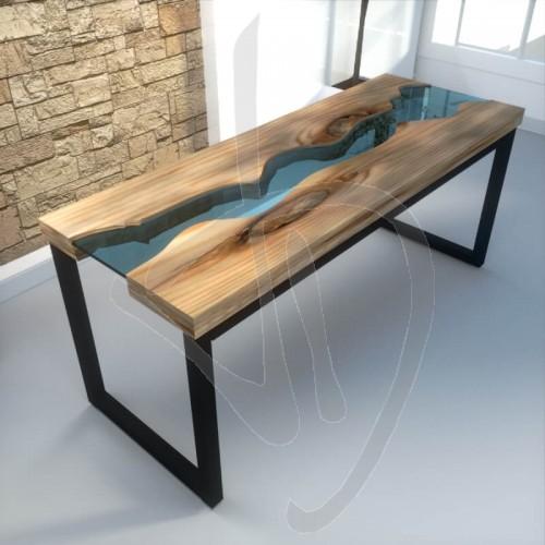 Tabel river su misura, table river vetro, tavolo da ...