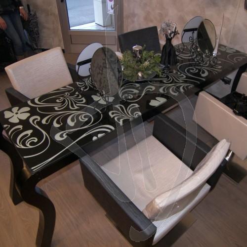 Vetro per scrivania, vetro per tavolo, copritavolo decorato ...