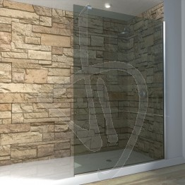 Vetro doccia fisso, su misura, in vetro grigio Europa