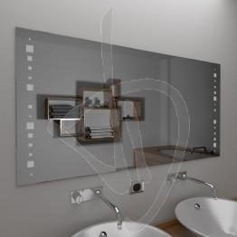 Specchio senza cornice, con decoro A035