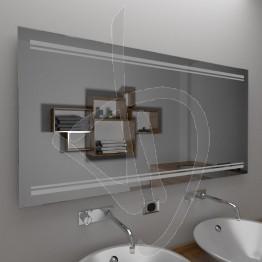 Specchio per bagno, con decoro B019