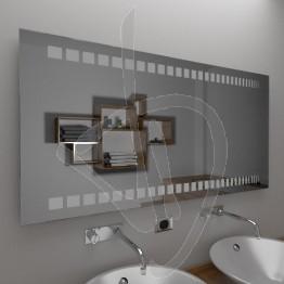 Specchio moderno, con decoro B017