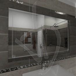 Specchio su misura, con decoro B008