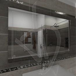 Specchio da parete, con decoro B006