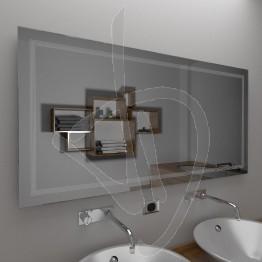 Specchio da bagno, con decoro B020