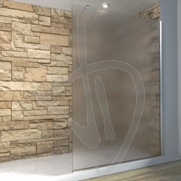 Vetro doccia fisso, su misura, in vetro opaco, stampato C