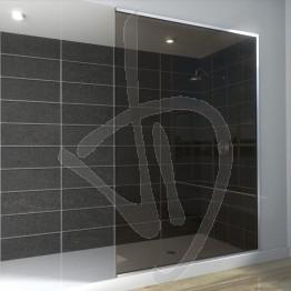Vetro doccia nicchia, su misura, in vetro bronzato