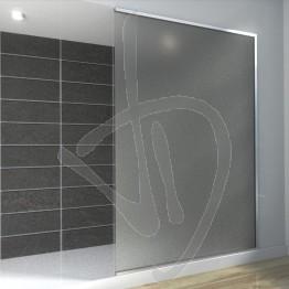 Vetro doccia nicchia, su misura, in vetro satinato