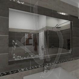 Specchio decorativo, con decoro C020