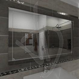 Specchio grande da parete, con decoro C016