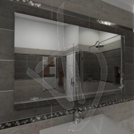 Specchio grande, con decoro C023