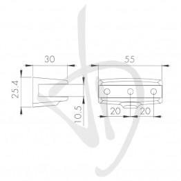 reggimensola-per-carichi-leggeri-misure-26xp30mm-spessore-vetro-6-10-mm