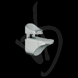 Reggimensola per carichi medi, Misure 50/60xP56mm, Spessore vetro 4-14 mm