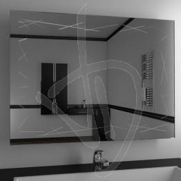 Specchio moderno, con decoro A037