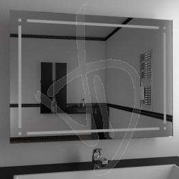 Specchio per bagno, con decoro B018