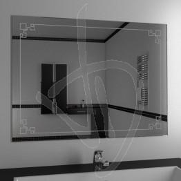 Specchio bagno design, con decoro B013