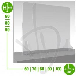 Parafiato in plexiglass trasparente, pannello frontale