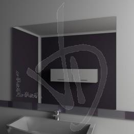 Specchio per bagno, con decoro A029
