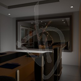 Specchio moderno, con logo illuminato e con cornice rivestita in legno, varie finiture