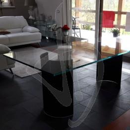 Tavolo in vetro, su misura