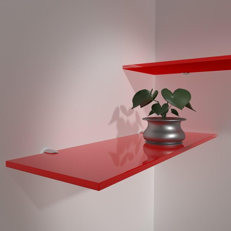 Mensole rosse mensole vetro colorato mensole colorate for Specchi su misura on line