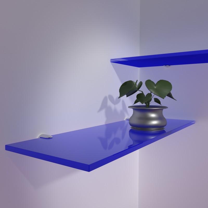 Mensole colorate su misura mensole vetro colorato for Vetro sintetico su misura