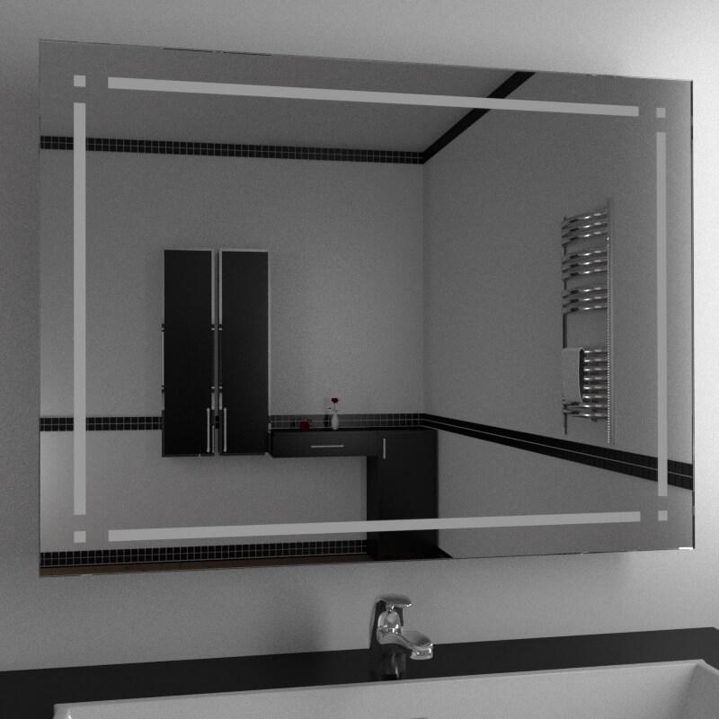 Specchio per bagno specchio con decoro specchi decorati su misura vendita online di specchi - Specchi retroilluminati per bagno ...