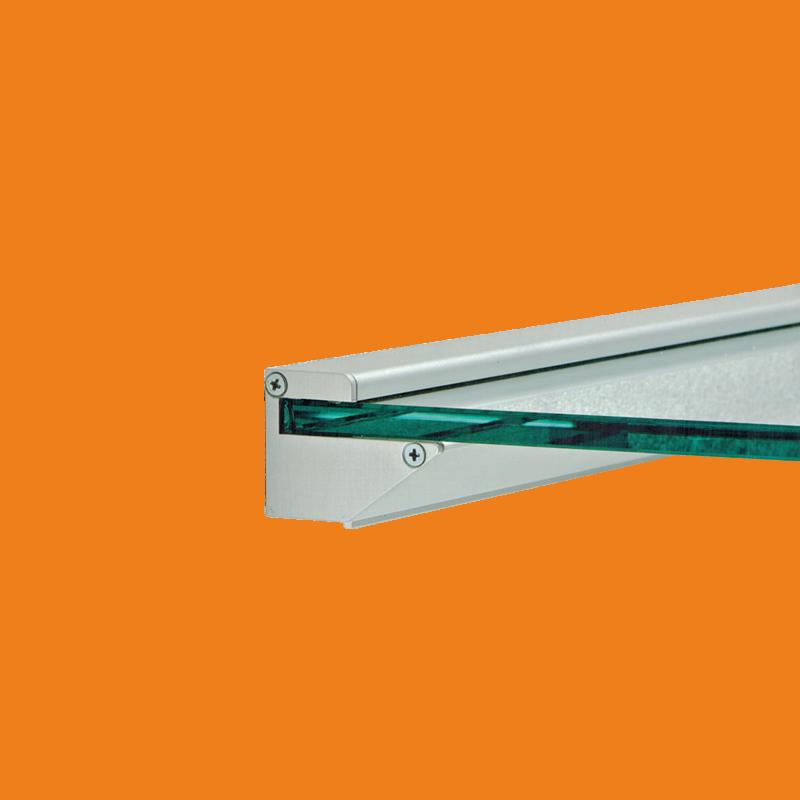 Reggimensola Per Mensole Vetro.Reggimensola P48xh35xl3800 Sp 8 Mm