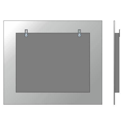 Pannello posteriore italiano vetreria dimensione vetro - Specchio su misura ikea ...