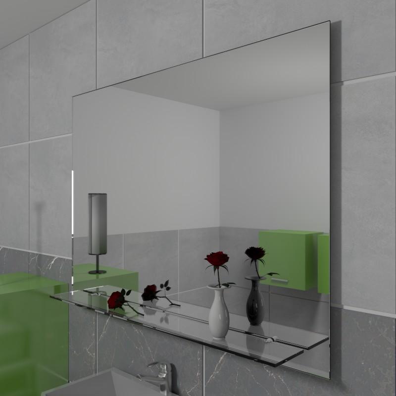 Specchio con mensola specchio senza cornice specchio su - Specchio su misura ikea ...