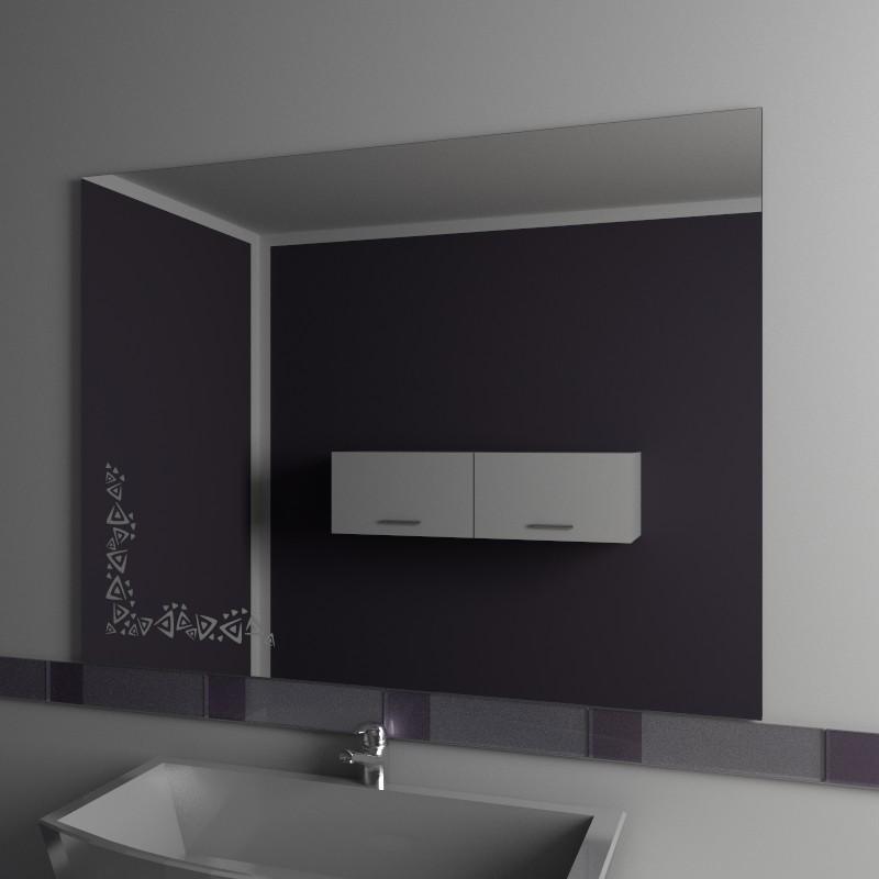 Specchio bagno specchio bagno con decoro vendita online - Specchio su misura ikea ...