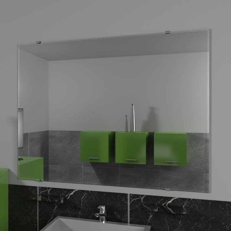 Specchio senza cornice specchio da parete specchio su misura specchio da appendere su misura - Specchio su misura ikea ...